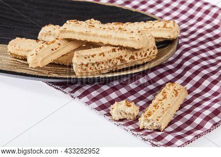 Tasty Baked Cheese Breadsticks; On White Background