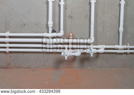 Distribution Of Hot Water And Heating Through Plastic Pipes From A Double-circuit Boiler In The Hous