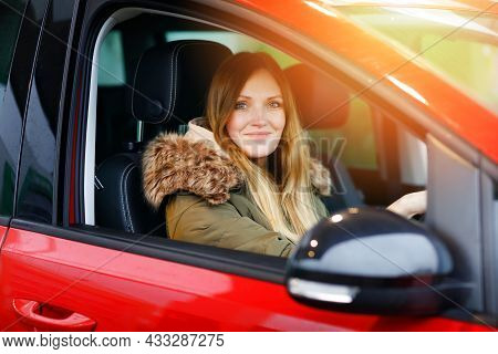 Young Attractive Woman With Happy Positive Expression, Being Satisfied With Unforgettable Journey By
