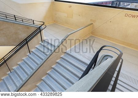 Interior View Of Stairway In Old Building