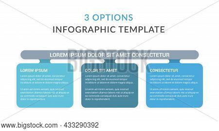 Infographic Template With 3 Options, Workflow, Process Chart, Vector Eps10 Illustration