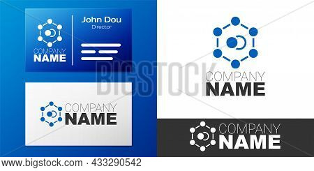 Logotype Molecule Icon Isolated On White Background. Structure Of Molecules In Chemistry, Science Te