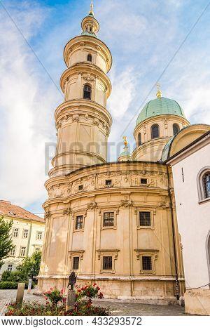 View At The Katharinenkirche Church In Graz, Austria