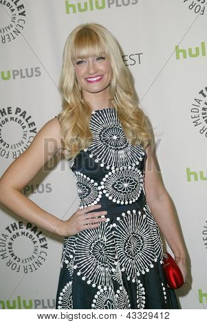 BEVERLY HILLS - MARCH 14: Beth Behrs arrives at the 2013 Paleyfest