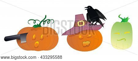 Halloween Pumpkins, Stickers For Kids, Surprised Facial Expressions, Funny Cartoon Vegetables, Pictu