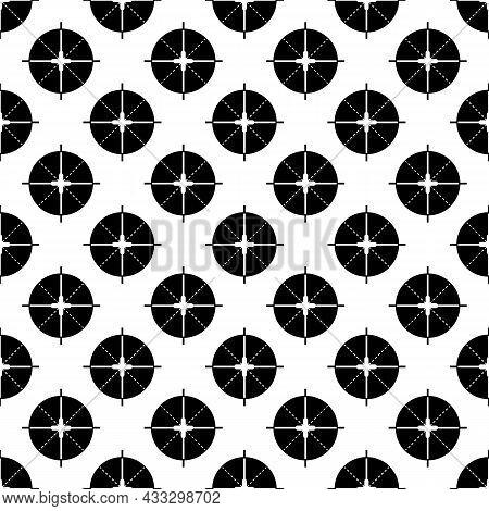 Sniper Aim Pattern Seamless Background Texture Repeat Wallpaper Geometric Vector