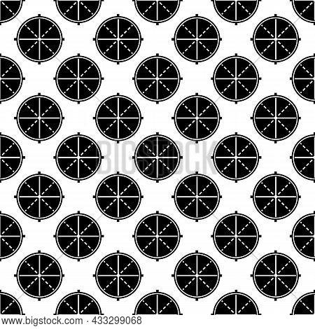 Sniper Optical Aim Pattern Seamless Background Texture Repeat Wallpaper Geometric Vector