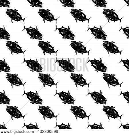 Tuna Fish Pattern Seamless Background Texture Repeat Wallpaper Geometric Vector