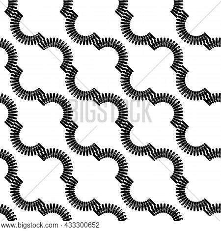 Spiral Cable Pattern Seamless Background Texture Repeat Wallpaper Geometric Vector