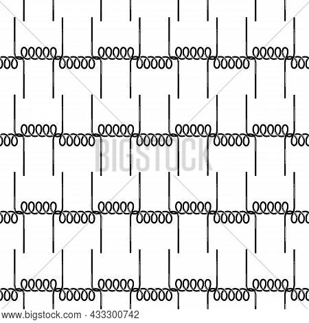 Metal Spring Pattern Seamless Background Texture Repeat Wallpaper Geometric Vector
