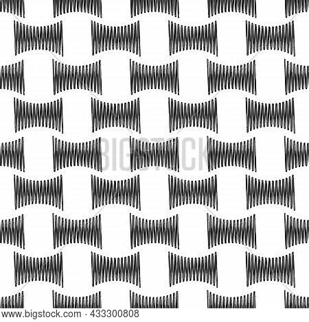 Steel Spring Pattern Seamless Background Texture Repeat Wallpaper Geometric Vector