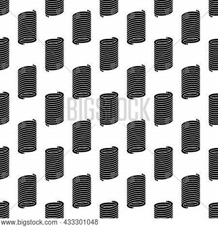 Compression Spring Pattern Seamless Background Texture Repeat Wallpaper Geometric Vector