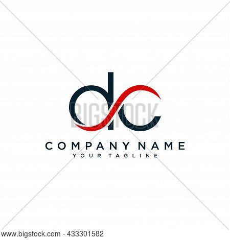Cd Or Dc Letter Initial Logo Design, Vector Illustration