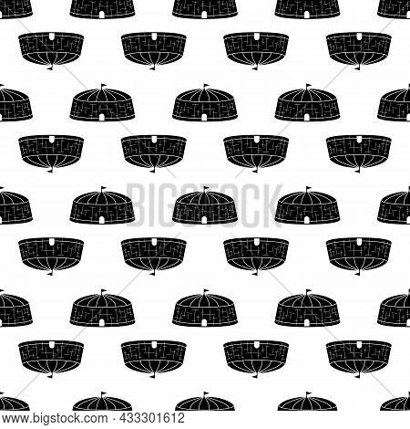Circus Arena Pattern Seamless Background Texture Repeat Wallpaper Geometric Vector