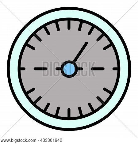 Double Speedometer Icon. Outline Double Speedometer Vector Icon Color Flat Isolated