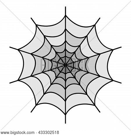 Symmetrical Spider Web Icon. Outline Symmetrical Spider Web Vector Icon Color Flat Isolated
