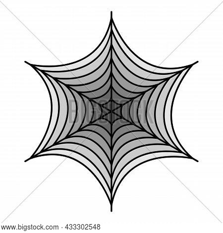 Small Spider Web Icon. Outline Small Spider Web Vector Icon Color Flat Isolated