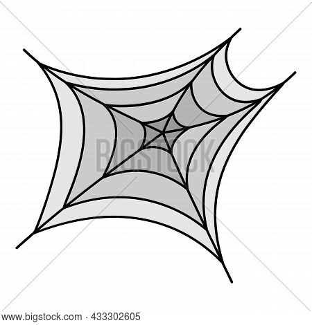 Scary Spider Web Icon. Outline Scary Spider Web Vector Icon Color Flat Isolated