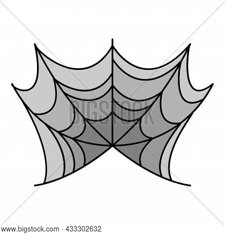 Spider Web Trap Icon. Outline Spider Web Trap Vector Icon Color Flat Isolated
