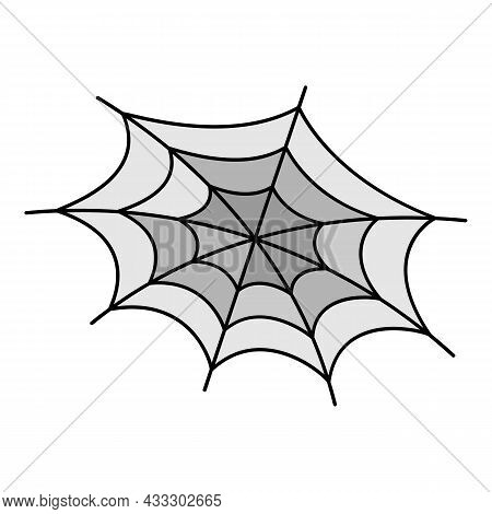 Phobia Spider Web Icon. Outline Phobia Spider Web Vector Icon Color Flat Isolated