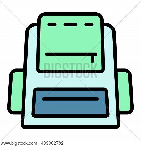 Modern Backpack Icon. Outline Modern Backpack Vector Icon Color Flat Isolated