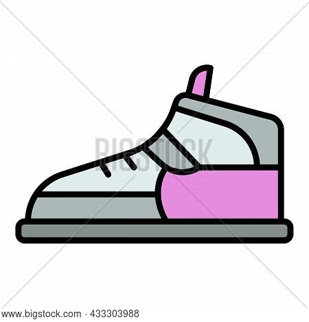 Hip Hop Sneaker Icon. Outline Hip Hop Sneaker Vector Icon Color Flat Isolated