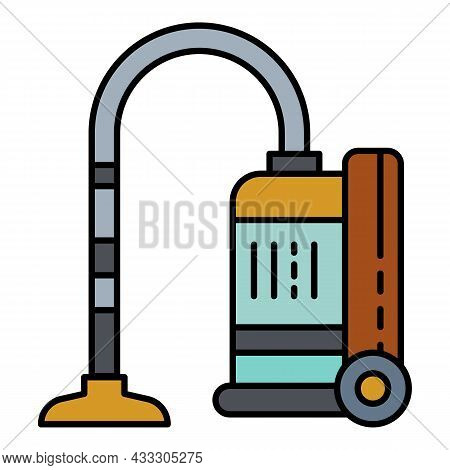 Modern Vacuum Cleaner Icon. Outline Modern Vacuum Cleaner Vector Icon Color Flat Isolated