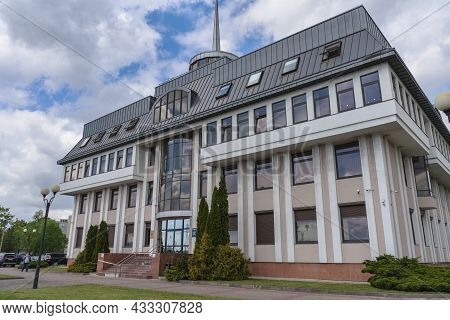 Kaliningrad, Russia - May 14, 2021: Exterior Of Building Of Baltic Sea Port Authority (administratio