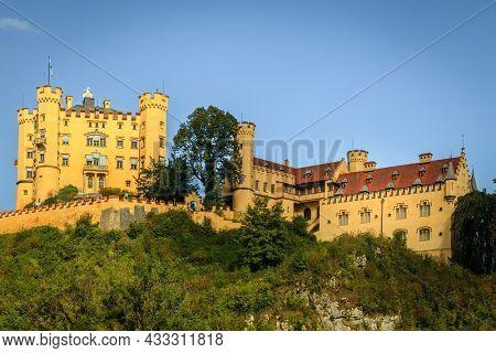 Hohenschwangau Castle in Schwangau, Bavaria, a 19th century palace and a residence of King Ludwig II