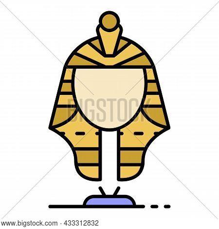 Egypt Princess Sculpture Icon. Outline Egypt Princess Sculpture Vector Icon Color Flat Isolated