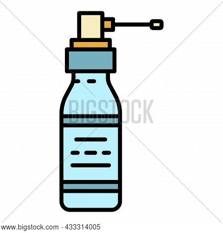 Spray For The Throat Icon. Outline Spray For The Throat Vector Icon Color Flat Isolated