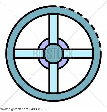Pool Equipment Icon. Outline Pool Equipment Vector Icon Color Flat Isolated