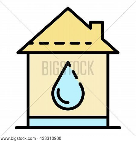 Home Water Supply Icon. Outline Home Water Supply Vector Icon Color Flat Isolated