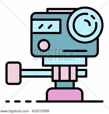 Action Underwater Camera Icon. Outline Action Underwater Camera Vector Icon Color Flat Isolated