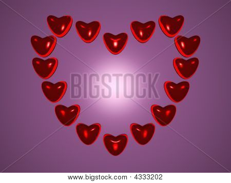 Heart Of Hearts With Gradient Background