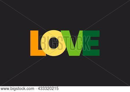 Love Typography Logo Design. Valentine Conceptual Typography Vector Design.