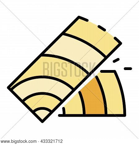 Wood Part Icon. Outline Wood Part Vector Icon Color Flat Isolated