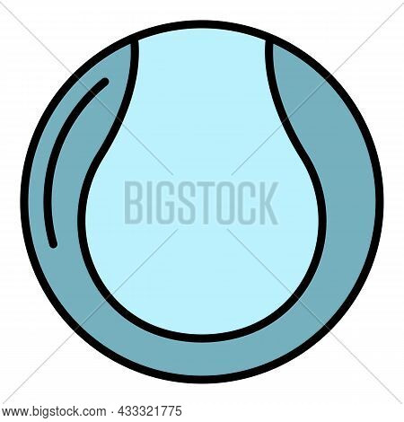 Tennis Ball Icon. Outline Tennis Ball Vector Icon Color Flat Isolated