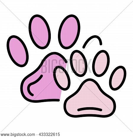 Pet Stamp Icon. Outline Pet Stamp Vector Icon Color Flat Isolated