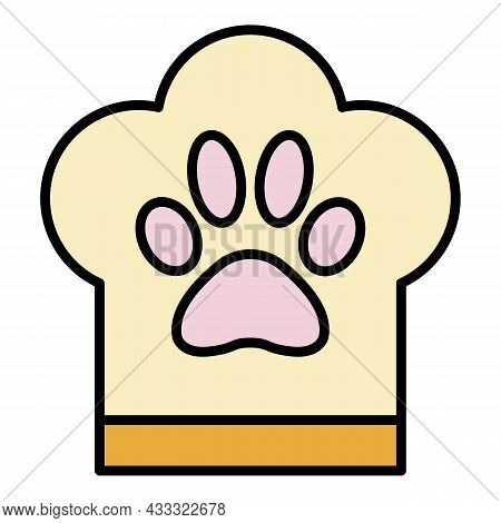 Pet Hotel Cooker Icon. Outline Pet Hotel Cooker Vector Icon Color Flat Isolated