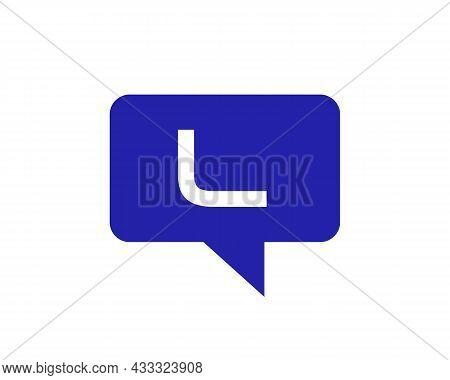 Chat Logo On L Letter Concept. L Letter With Speech Bubble Logo. Letter L Communication Logo Design