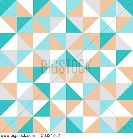 Geometric Pattern. Multicolored Abstract Scandinavian Pattern. Vector Minimalistic Flat Design. Tria