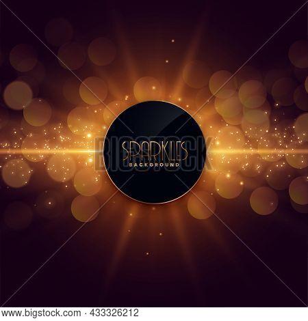 Glowing Sparkles Burst Glowing Background Vector Design Illustration