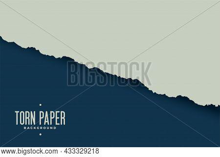 Torn Paper Sheet Edge Background Vector Design Illustration