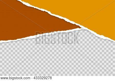 Ripped Torn Paper Sheets On Transparent Background Vector Design Illustration