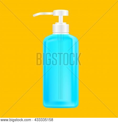 Hygiene Bottle Hand Gel For Clip Art, Alcohol Liquid Gel Bottle, Packaging Soap Gel Bottle Illustrat