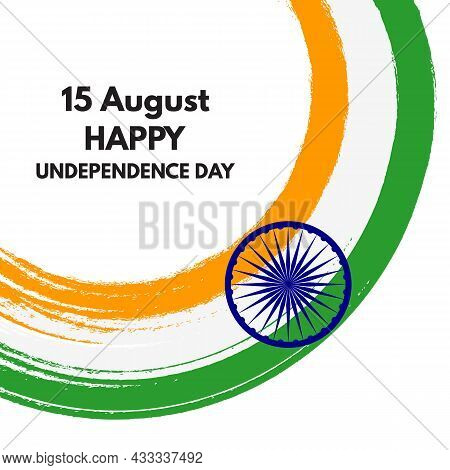 15 August Happy India Independence Day Holiday Background. Vector Illustration