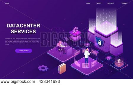 Internet Datacenter Connection. Remote Support, Workers With Statistics. Checking Information, Analy