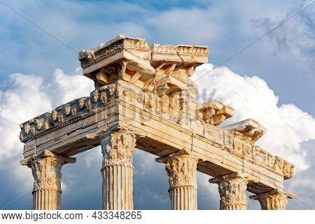 Temple Of Apollo Ruins In Side, Antalya, Turkey