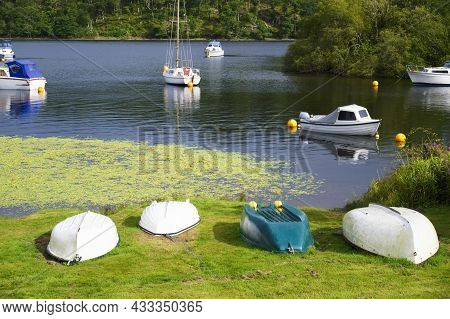 Boat In Lake For Tranquility Calm Peace And Mindfulness